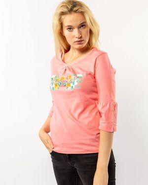 С рукавами хлопковая футбольная персиковая футболка Samo