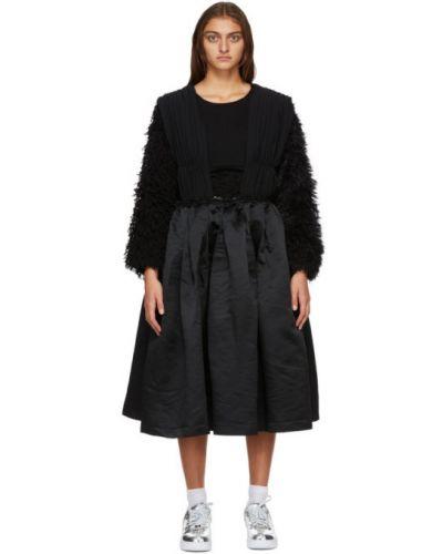 Платье на бретелях с оборками с карманами из крепа Comme Des Garçons