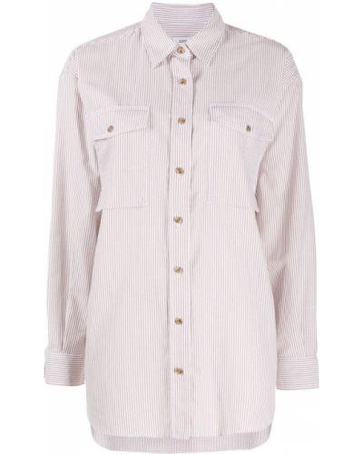С рукавами классическая рубашка оверсайз в полоску Closed