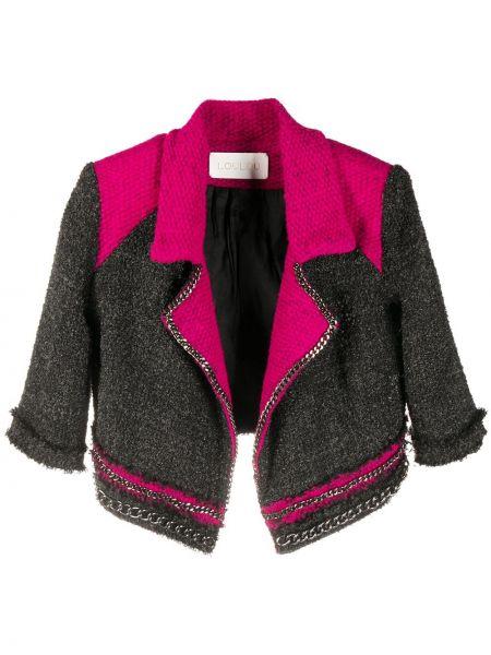 Вязаный розовый короткая куртка свободного кроя Loulou