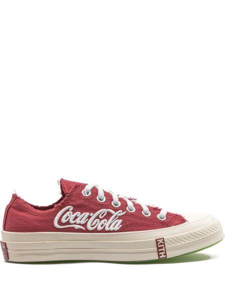 Хлопковый красный кружевной топ Converse
