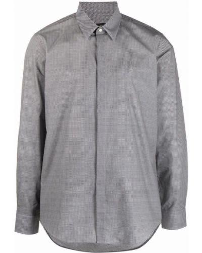 Черная хлопковая рубашка Fendi