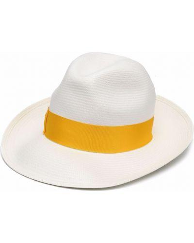 Biały kapelusz Borsalino