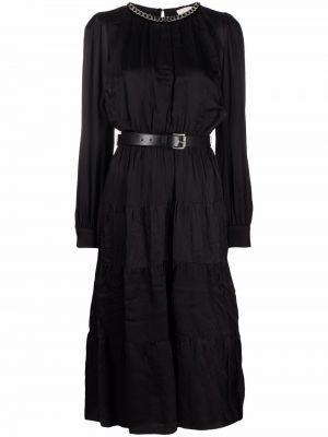 Черное платье из вискозы Michael Michael Kors