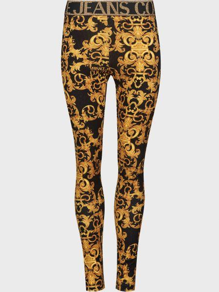 Леггинсы с принтом - золотые Versace Jeans Couture