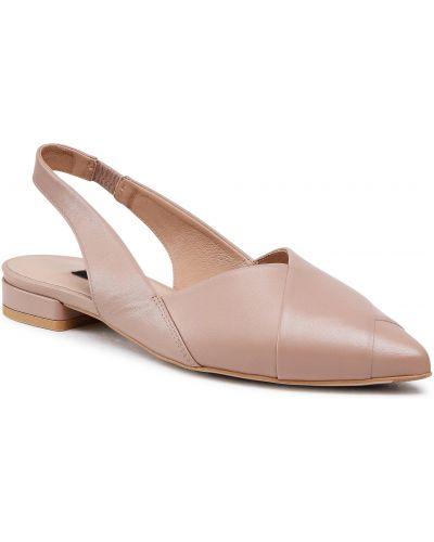 Beżowe sandały skorzane Gino Rossi