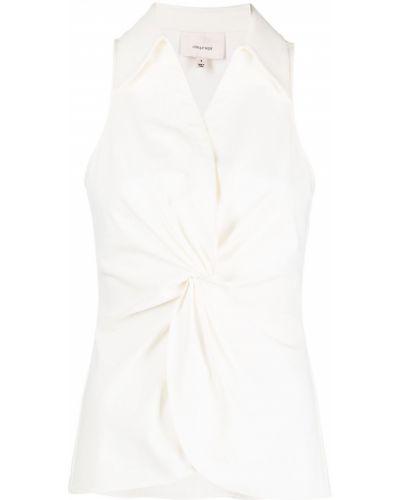 Белая блузка с воротником без рукавов Cinq À Sept