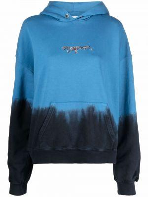 Niebieska bluza długa z kapturem z długimi rękawami Ottolinger