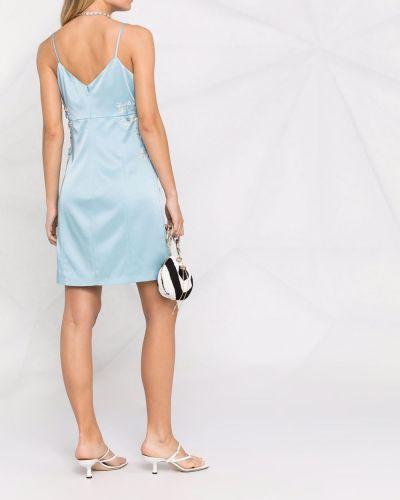 Прямое синее платье мини с вырезом Blumarine