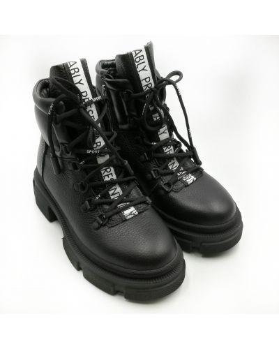 Кожаные ботинки - черные Teona