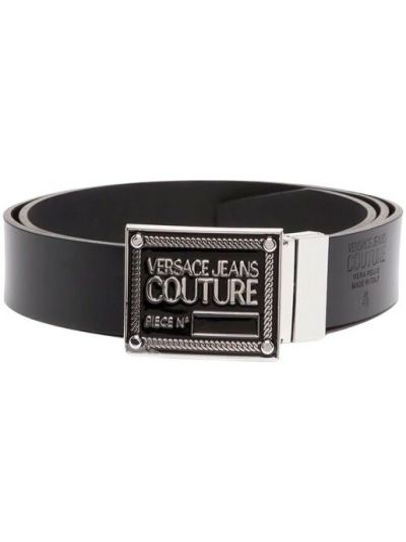 Czarny pasek Versace Jeans Couture