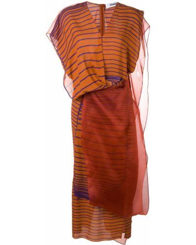 Приталенное платье миди - коричневое Chalayan