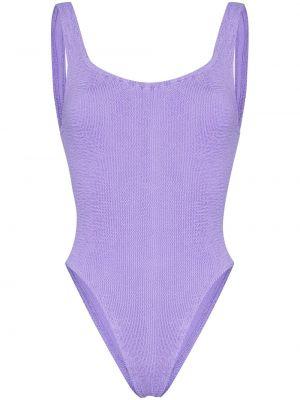Нейлоновый фиолетовый купальник Hunza G