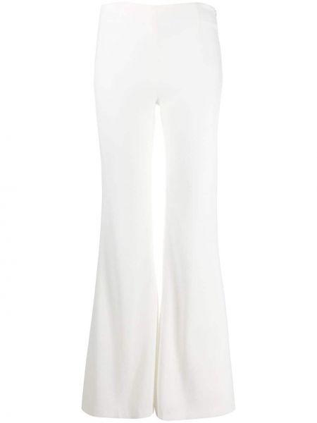 Белые расклешенные брюки с высокой посадкой с потайной застежкой Galvan