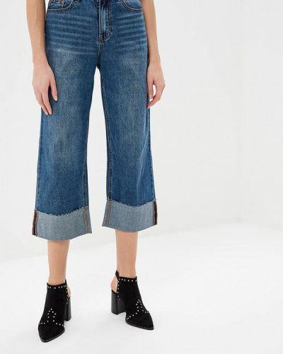 Широкие джинсы расклешенные синие Lost Ink.