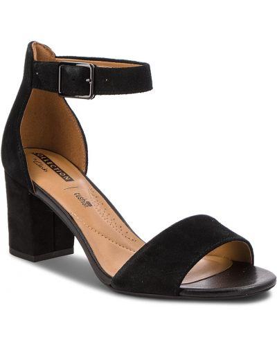 Sandały skórzane - czarne Clarks