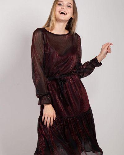 Вечернее платье осеннее красный Bessa