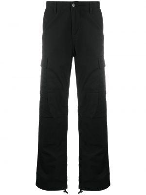 Spodni czarny bojówki z mankietami z paskiem Carhartt Wip