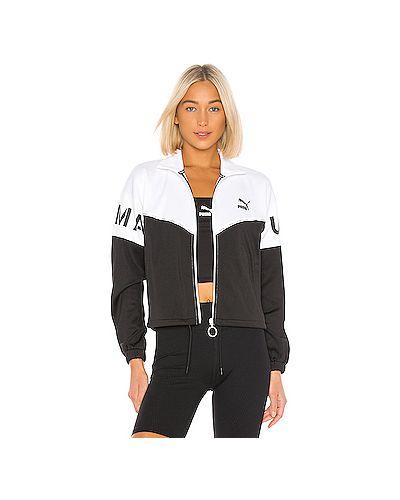 Куртка леопардовая черная Puma
