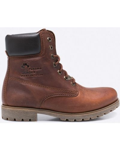 Кожаные ботинки на шнуровке высокие Panama Jack