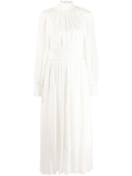 Платье миди в горошек с поясом Zimmermann