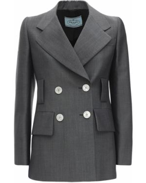 Куртка с жемчугом с манжетами Prada