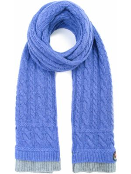 Шерстяной фиолетовый шарф вязаный Canadiens