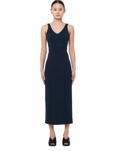 Платье без рукавов синее Maison Margiela