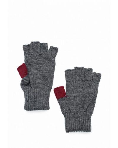 Перчатки митенки серые Colin's