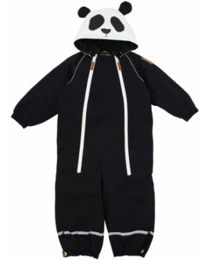 Czarny garnitur z nylonu z raglanowymi rękawami Mini Rodini