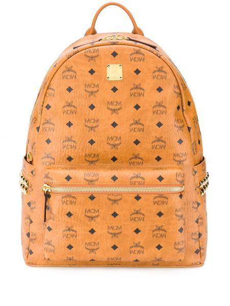 Рюкзак с карманами - золотой Mcm