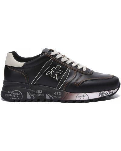 Кожаные кроссовки на шнуровке закрытые Premiata