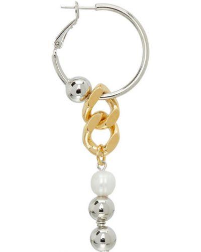 Бальные серьги-кольца золотые с жемчугом In Gold We Trust Paris