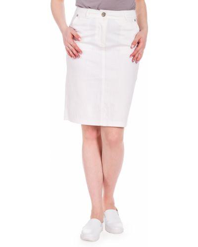 Джинсовая юбка классическая с карманами Lacywear