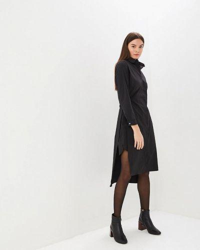 Платье осеннее черное Hassfashion