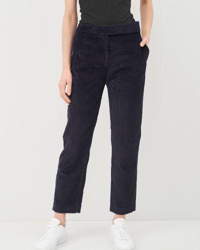 Синие брюки вельветовые с поясом Cacharel