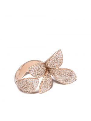 Różowy złoty pierścionek z diamentem Pasquale Bruni