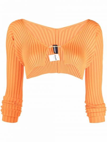 Оранжевый кардиган длинный Jacquemus