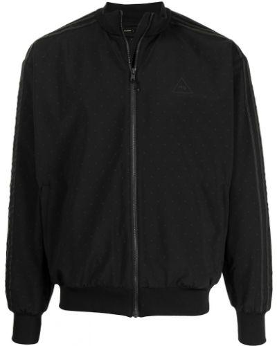 С рукавами черная куртка на молнии Adidas