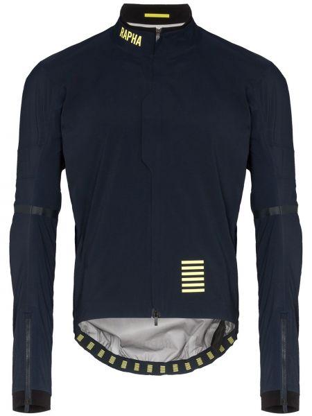 Niebieska długa kurtka z nylonu z długimi rękawami Rapha