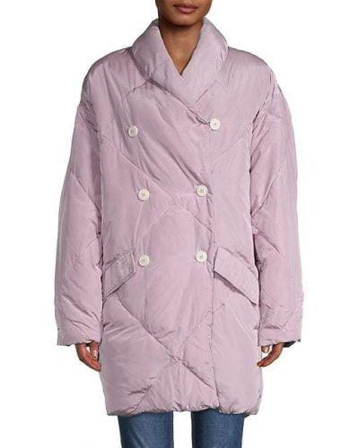С рукавами стеганое длинное пальто двубортное Free People