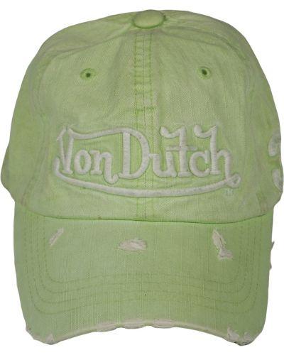 Кепка винтажная - зеленая Von Dutch