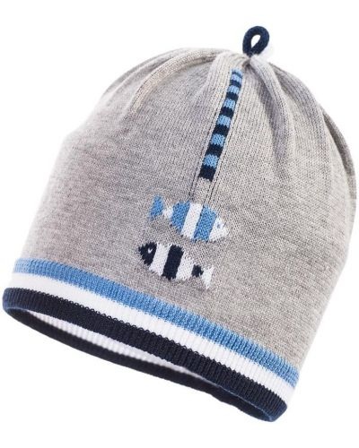 Зимняя шапка облегающий серая Jamiks