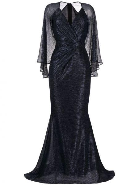 Платье макси длинное - синее Talbot Runhof