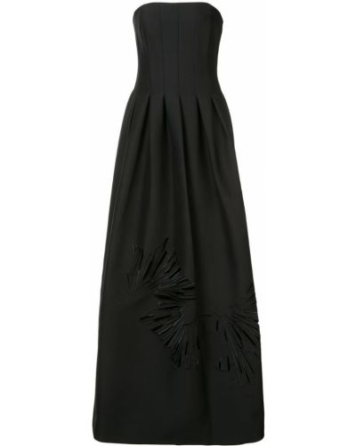 Вечернее платье с вышивкой хлопковое Halston Heritage