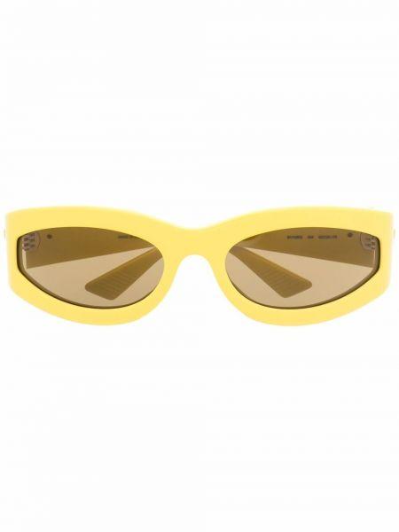 Żółte okulary Bottega Veneta Eyewear
