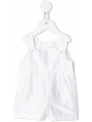 Комбинезон белый на пуговицах Dolce & Gabbana Kids