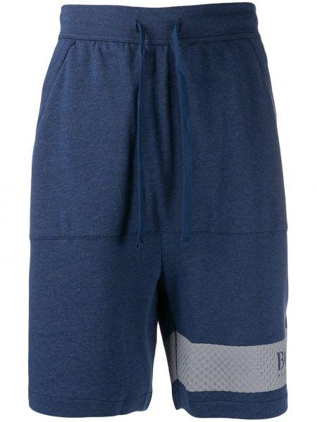 Спортивные шорты с карманами синий Boss Hugo Boss