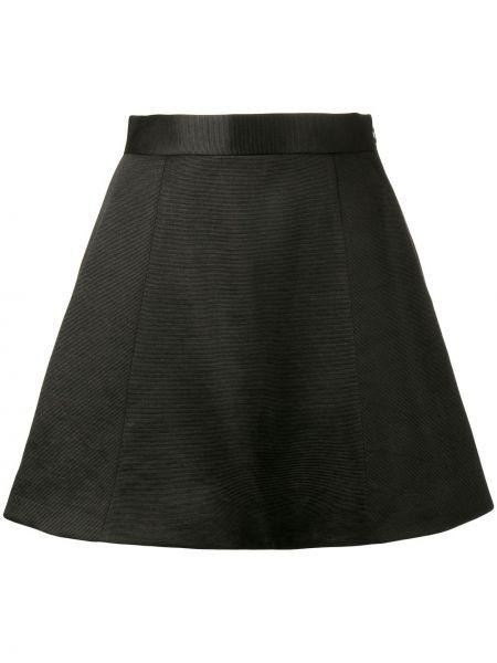 Шелковая черная юбка мини Olivier Theyskens