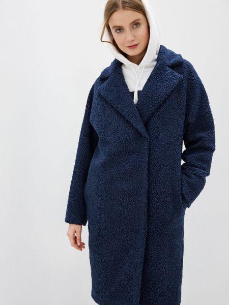 Синее зимнее пальто с капюшоном Argent